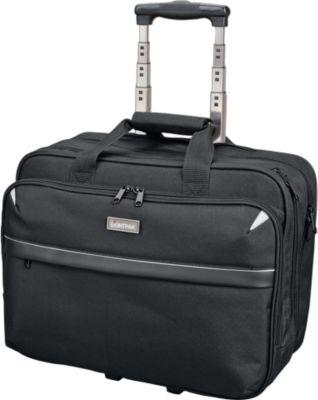 Laptop Trolley XRAY, für 15 Zoll Laptops, 2 Hauptfächer, gepolstert, Polyester, schwarz