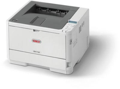 Laserdrucker Oki B412dn, S/W-Drucker, 33 S./Min., DIN A6 bis Banner 1,30 Länge