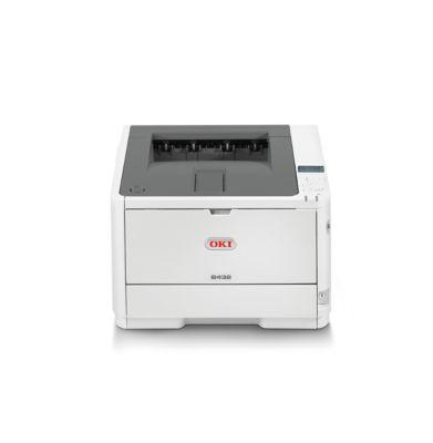 Laserdrucker Oki B432dn, S/W-Drucker, 40 S./Min., DIN A6 bis Banner 1,30 Länge