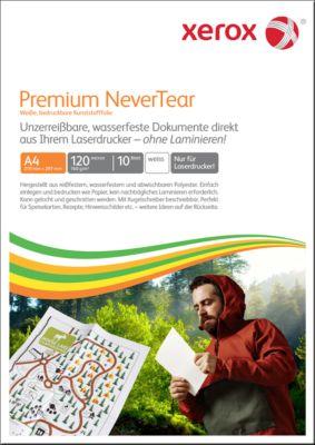 Laserpapier Xerox Premium NeverTear, DIN A4, 120 g/m², wit, 1 verpakking = 10 vellen