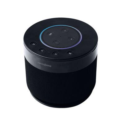 Lautsprecher Swisstone DOTBOX 1, Echo Dot/Bluetooth, 360° Surround, 15W RMS, IPX4, schwarz