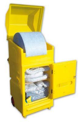 Leckagen-Notfallset im Wartungsrollwagen, ölbindend für Öle div. Art,  300 L