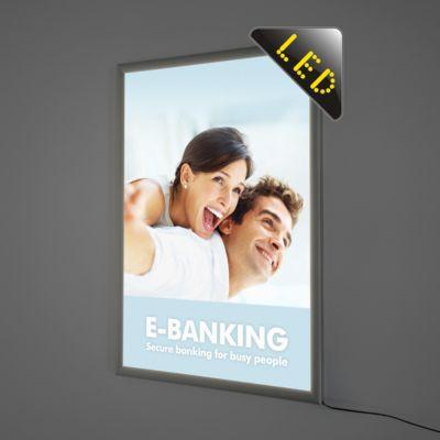 LED afneembaar frame, dubbelzijdig, 700 x 1000 mm, 4 x DIN A4, 36 W, DIN A4, 36 W