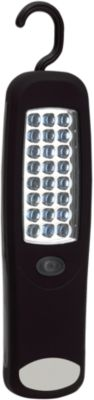 LED Arbeitsleuchte WORKFLOW, 24 LEDs, mit Klapphaken & Magnet, Lasergravur 30 x 15 mm
