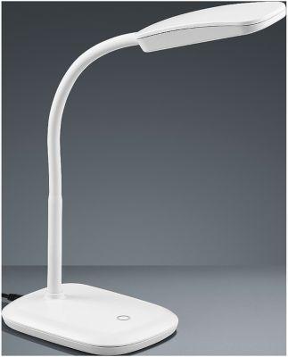 Led-bureaulamp Boa, met touchdimmer, in hoogte verstelbaar, wit