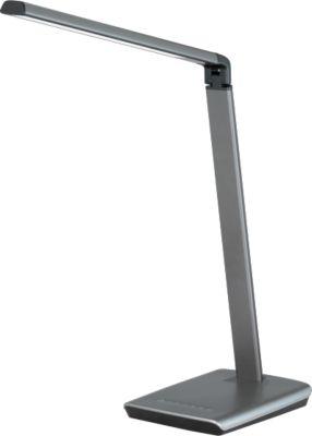 Led-bureaulamp Bragi, 818 lumen, 6-traps dimbaar, met USB-aansluiting, ijzergrijs