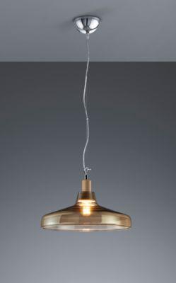 LED Pendelleuchte DOVER, E27 Fassung, inkl. 8 W LED-Leuchtmittel, Abhängehöhe bis 1300 mm, Glas