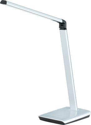 LED-Tischleuchte Bragi, 818 Lumen, 6-fach dimmbar, mit USB-Anschluss, silber