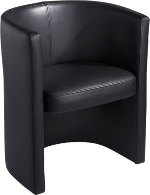 Lederen stoel Club, zwart