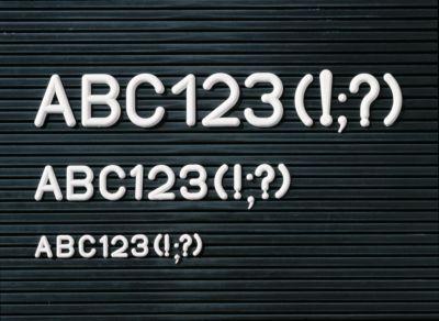 Legamaster Buchstaben-Set, für Rillentafeln Premium, 280 Buchstaben