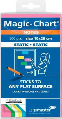 Legamaster Magic-Chart Notes, serie 7-159, 100 x 200 mm, groen/geel/roze/blauw/wit, kleur: groen/geel/roze/wit.