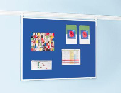 Legamaster Pinboard-Textil Professional, H 900 x B 1200 mm, inkl. Tragarmset, blau