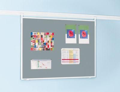 Legamaster Pinboard-Textil Professional, H 900 x B 1200 mm, inkl. Tragarmset, grau