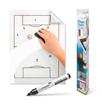 Legamaster Set Meeting Kit Deluxe + Magic-Chart Notes A4 whiteboard Gratis