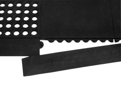 Leiste für Arbeitsplatzmatte Yoga Allround/Industrie®, schwarz, 4 Stück