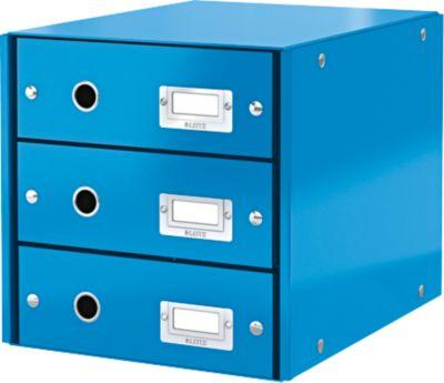 LEITZ® 3 Schubladen Click + Store, hoch, blau