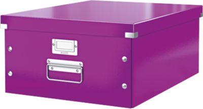 LEITZ® Ablage- und Transportbox Serie Click + Store, groß, für DIN A3, violett
