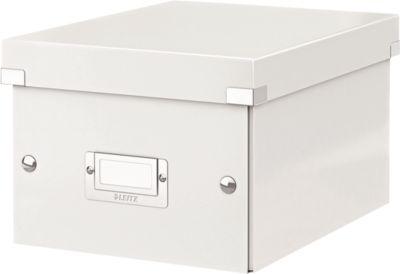 LEITZ® Ablage- und Transportbox Serie Click + Store, klein, für DIN A5, weiß