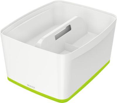 Leitz Ablagebox MyBox, DIN A4, für Utensilien, weiß/grün