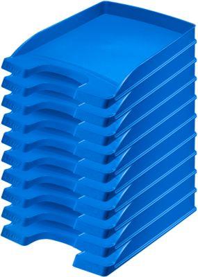 LEITZ® Ablagekorb Plus 5237, DIN A4, 10 Stück, blau