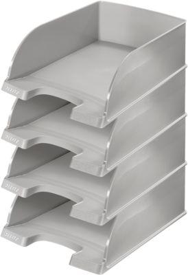 LEITZ® Ablagekorb Plus Jumbo 5233, DIN A4, 4 Stück, grau