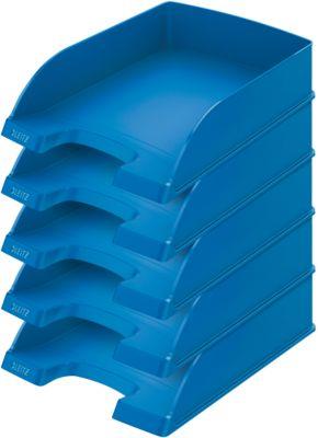 LEITZ® Ablagekorb Standard 5227, Kunststoff, 5 Stück, blau