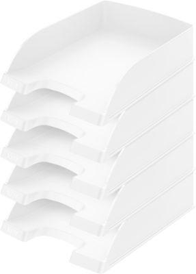LEITZ® Ablagekorb Standard 5227, Kunststoff, 5 Stück, weiß