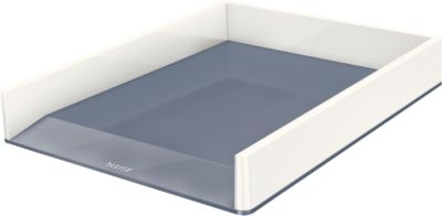 LEITZ® Ablagekorb WOW Duo Color, DIN A4, weiß/grau