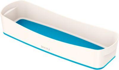 Leitz Ablageschale MyBox, lange Version, B 307 x H 55 x T 105 mm, f. Utensilien, weiß/blau