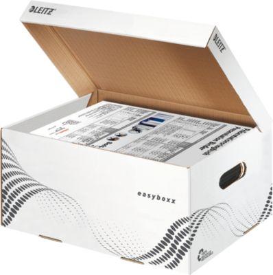 LEITZ® archiefcontainer easyboxx, gemaakt van gerecycled karton, Maat S, 10 stuks