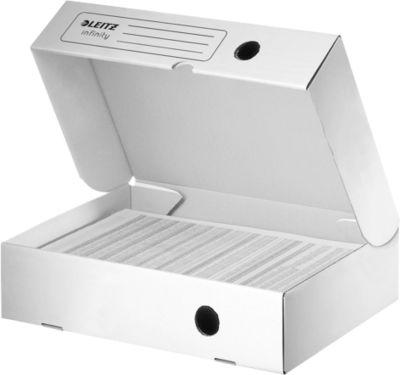 LEITZ® archiefdozen Infinity 6100 met klapdeksel, rug van 80 mm, 10 stuks