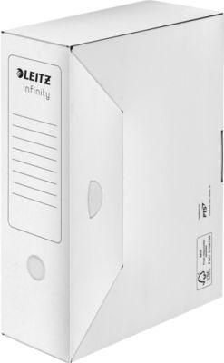 LEITZ® archiefdozenr Infinity, karton, wit, met brede rug van 100 mm, ref. 6089, 10 stuks