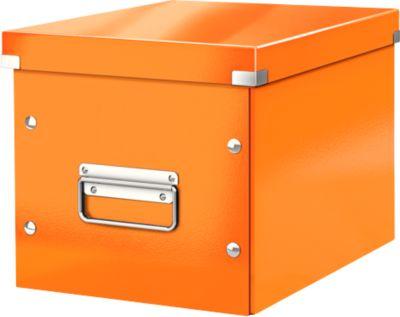 LEITZ® Aufbewahrungsbox Click + Store, für ovale/höhere Gegenstände 260 x 240 x 260 mm, orange