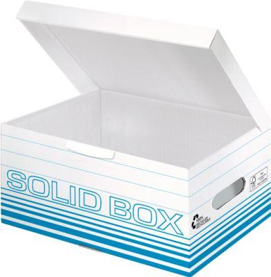 LEITZ bewaardozen Solid Box S 6117, blauw, 10 stuks