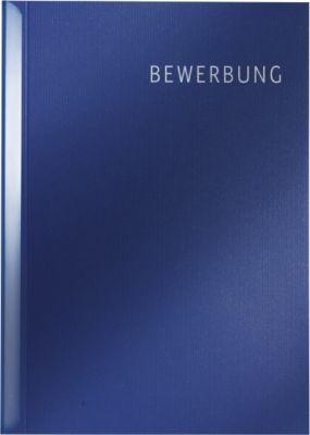 LEITZ® Bewerbungsset Schnell und Einfach mit Schriftzug, DIN A4-Format, Karton, dunkelblau