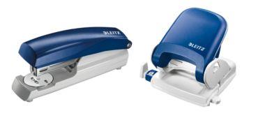 LEITZ® Bürolocher 5005 + Heftgerät 5500 SET, blau