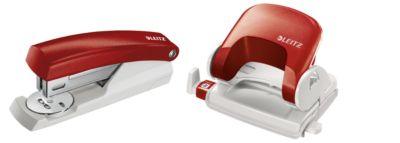 LEITZ® Bürolocher 5038 + Heftgerät 5501 SET, rot