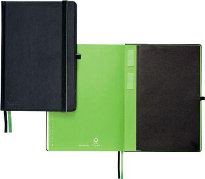 Leitz® Complete Notitieboek A4, geruit met harde kaft, zwart