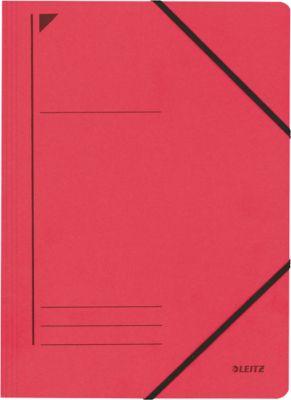 LEITZ® Eckspannmappe, DIN A4, Gummizugverschluss, rot