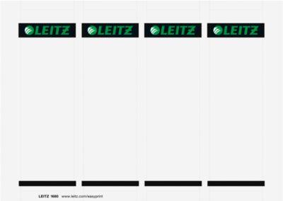 LEITZ® Einsteckschilder für 180°-Qualitätsordner, Rückenbreite 80 mm, bedruckbar, 100 Stück