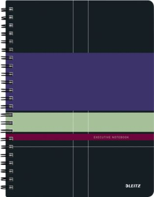 LEITZ® Executive notitieboek, spiraalgebonden met PP kaft, A4, 446200, geliijnd