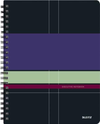 LEITZ® Executive Project notitieboek A4, spiraalgebonden met PP kaft,446800, gelijnd