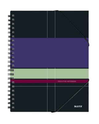 LEITZ® Executivenotitieboek Be Mobile A4, spiraalgebonden met PP kaft, 446300, geruit