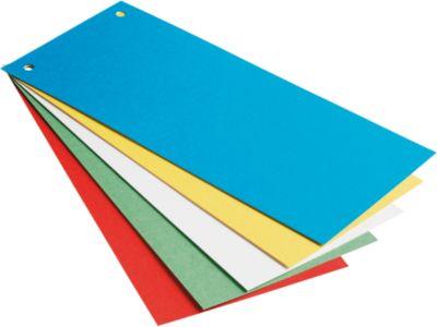 LEITZ® Gekleurde verdeelstroken uit karton, 240 x 105 mm, diverse kleuren, 25 stuks