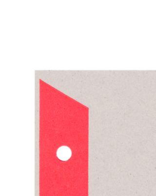 LEITZ® Kartonnen tabbladen met gekleurde tabs, te snijden, A4, rood, pak van 25 sets