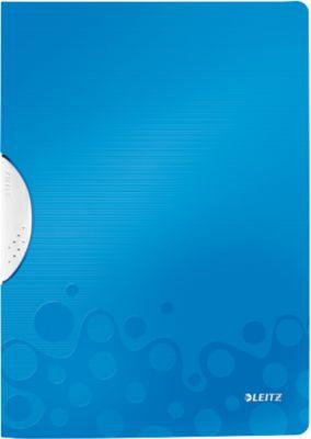 LEITZ® klemmap ColorClip WOW, DIN A4, PP, met clip, blauw, met clip