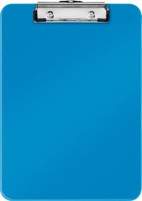LEITZ® Klemmbrett WOW 3971, DIN A4, Polystyrol, mit Aufhängeöse, blau