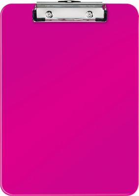 LEITZ® Klemmbrett WOW 3971, DIN A4, Polystyrol, mit Aufhängeöse, pink