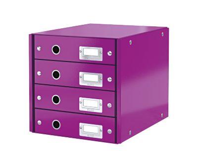 LEITZ® Ladenblok  Click + Store,4 laden,paars