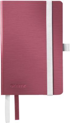 LEITZ® Notitieboek Style 4493, A6 formaat, geruit, granaatrood